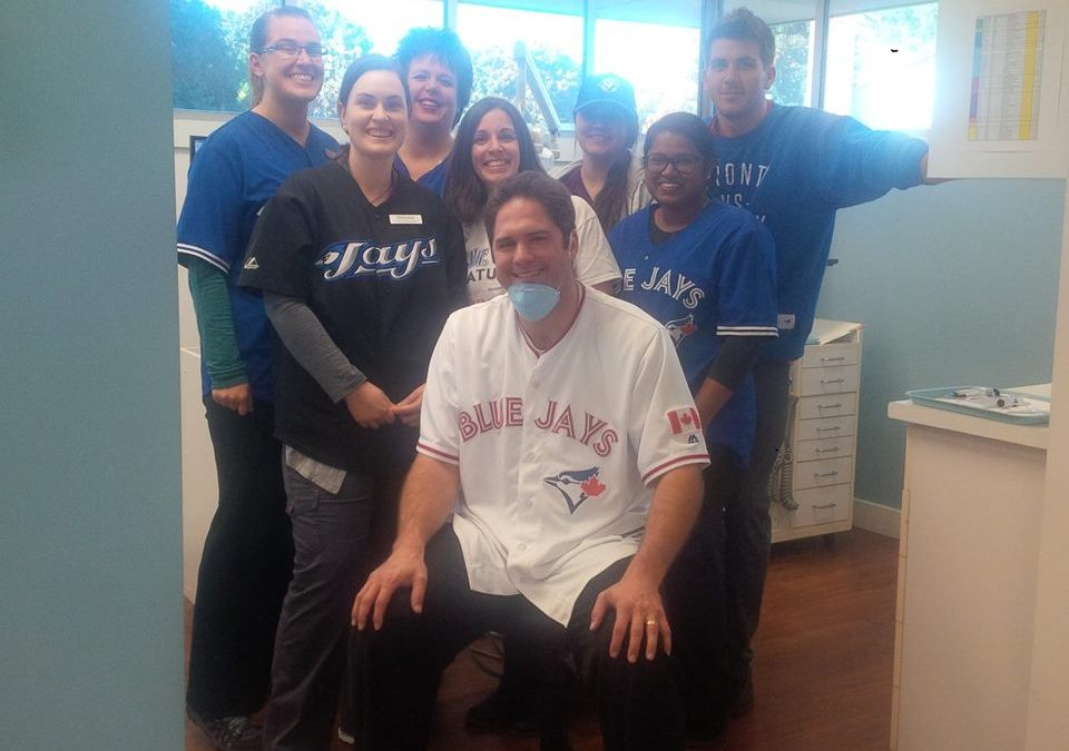 Spirit Day at the Office! Let's Go Blue Jay's!